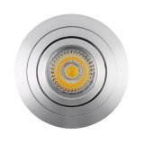 Lathe Aluminum GU10 MR16 Round Tilt Recessed LED Ceillign Light (LT2302B)