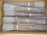ナイロンワイヤーステンレス鋼のハンドルのクリーニングブラシ(YY-598)