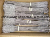 Brosse de nettoyage en nylon de poignée d'acier inoxydable de fil (YY-598)