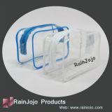 Sac cosmétique transparent de tirette de PVC