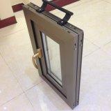 Ventana de aluminio termal esmaltada doble del marco de la ventana de aluminio del oscilación de la rotura