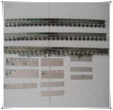 Trilho de cortina ao ar livre do PVC, cortina do acordeão do PVC