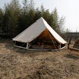 da família 6m impermeável da lona do algodão de 3m 4m 5m barraca de Bell de acampamento com furo para a tubulação do fogão