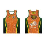 Custom Artwork Design Singlets Running Sports Vest for Runner