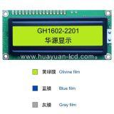 Módulo do LCD do caráter de LCM 16X2 com luminoso do diodo emissor de luz