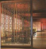 Het Scherm van de Verdeler van de Zaal van het Roestvrij staal van de Kleur PVD met 8k Spiegel