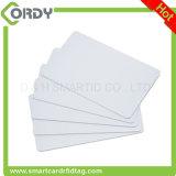 Cartão branco da proximidade do espaço em branco 125kHz com o número de série impresso