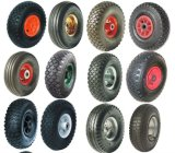 편평한 자유로운 PU 거품 바퀴 (3.50-4)