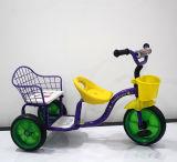 De hete Driewieler Met drie wielen van de Baby van het Metaal van de Jonge geitjes van de Verkoop Nieuwe Model Tweeling met Zetel Twee
