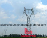 220kv Single Circuit Cat Head Transmission Steel Tower