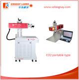 Marcação do laser do CO2/tipo de venda quentes agradáveis do Portable máquina de gravura