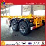 20FT 40FT transporte de contenedores de acero de camiones esqueleto Semirremolque Chasis