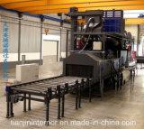 Transportador continuo a través de la máquina del chorreo con granalla de la rueda
