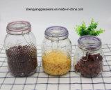 [3بك] يزيّن أسطوانة زجاجيّة تخزين مرطبان يثبت مع غطاء سدودة زجاجيّة
