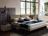 북유럽 간단한 가죽 직물 침대 홈 가구