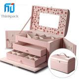 Venta caliente rosa Multideck Joyero con Espejo