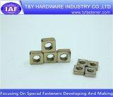 Noix carrée plaquée par jaune de zinc de constructeur de la Chine