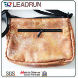 Saco de compra não tecido da mão da lona do algodão do couro do saco de compra da trouxa (X0740)