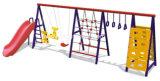 Jogo ao ar livre durável do balanço com escalada e corrediça