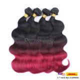Großhandelston-Farben-Menschenhaar-brasilianische Karosserien-Welle Remy Haar-Extension