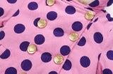 Kleid-Mädchen-Kinderberber-Vlies-Mantel mit grossem Polka PUNKT