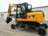 世界デザイン掘削機X8、8ton、0.3台のバケツ、車輪およびクローラー掘削機