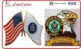Getroffenes Schrauben-Rückseiten-Polizei-Abzeichen sterben