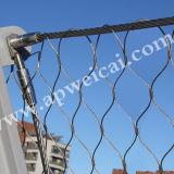 De Omheining AISI 304 316 van bloemen x-neigt het Netwerk die van /Balustrade /Cable van het Netwerk/overhandigt Geweven Roestvrij staal Ferruled Netwerk van de Kabel opleveren