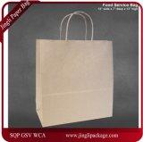 A mercadoria de compra dos sacos de papel do papel de embalagem de Brown dos sacos do restaurante ensaca do saco de varejo de Brown dos sacos do ofício dos sacos dos sacos do presente dos sacos do partido o saco natural, saco de papel horizontal