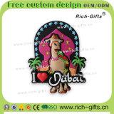I regali di gomma molli di promozione del ricordo hanno personalizzato i magneti Doubai (RC-DI) del frigorifero