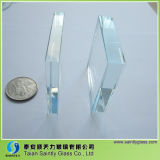 12mm Extra White Tempered Safety Glass для Building с Polished Edge