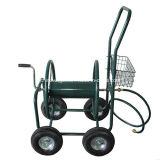 4つの車輪の庭水ホースの巻き枠のカート