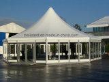 tienda octagonal de cristal de la pagoda del diámetro del 16m para la persona 150