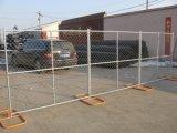Kettenlink-Zaun-Panels für Contruction Sicherheit 6 ' x12 Ineinander greifen 60mm x 60mm