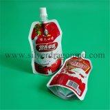 El empaquetado modificado para requisitos particulares se levanta bolsos con el canalón para las bebidas