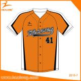 Healong自由なデザインカラー昇華最新の様式の人の野球のジャージーのワイシャツ