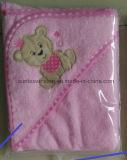 100%年の綿のテリーの赤ん坊のフード付きタオル