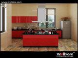 Gabinetes de cozinha modernos personalizados de Welbom lustro elevado