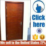 Дверь древесины главным образом входа Teak водоустойчивая