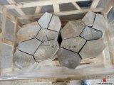 Ardoise en bois jaune de couvre-tapis de dalle de veine pour le carrelage