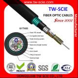 Núcleo GYTA53 do cabo 144 da fibra óptica para a utilização ao ar livre