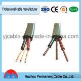 Belüftung-Isolierungs-Material-flach Zwilling und Massen-elektrisches kabel (BVVB+E)