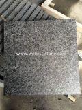 Pavimentadora negra de la piedra del azulejo del granito de la perla G684 para el patio, garage, terraza, pavimentación de la piscina