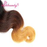 カラーOmbreのマレーシアの人間の毛髪の織り方はある場合もある