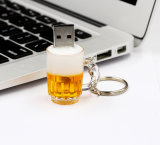 Disco modificado para requisitos particulares mecanismo impulsor del USB de la historieta del flash del USB de la taza de cerveza
