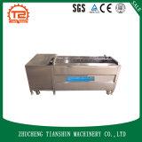 Máquina de lavar da máquina da limpeza da batata da escova e da erva da raiz