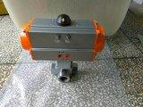 Válvula de esfera da linha das maneiras da operação manual quatro
