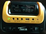 3PCS 3W FM 라디오 USB 충전기 원격 제어 SD 카드 선수와 가진 태양 LED 조명 시설