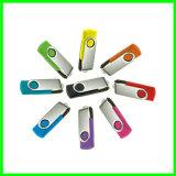 금속 USB 지팡이 플래시 메모리 회전대 USB 섬광 드라이브