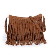 O saco tecido camurça da estrela de Euramerican esfrega o pacote diagonal franjado do ombro do saco (GB#1688)